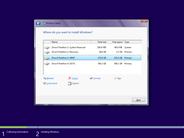 Windows Installation Partition Tool