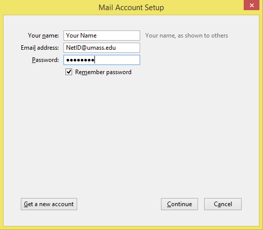 how to change email account password in thunderbird