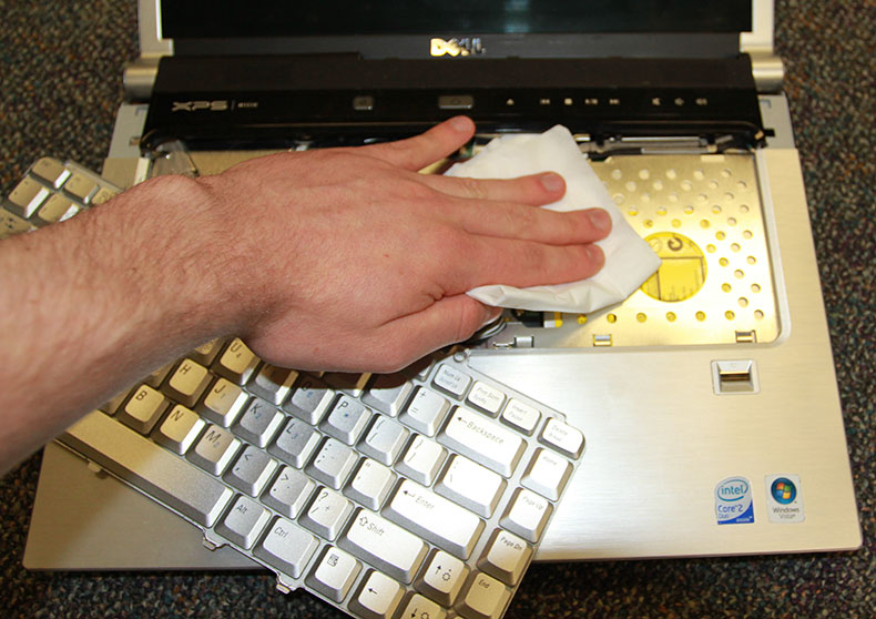 Clean under your keyboard