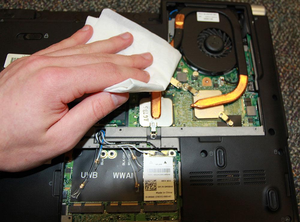 Clean under the bottom case