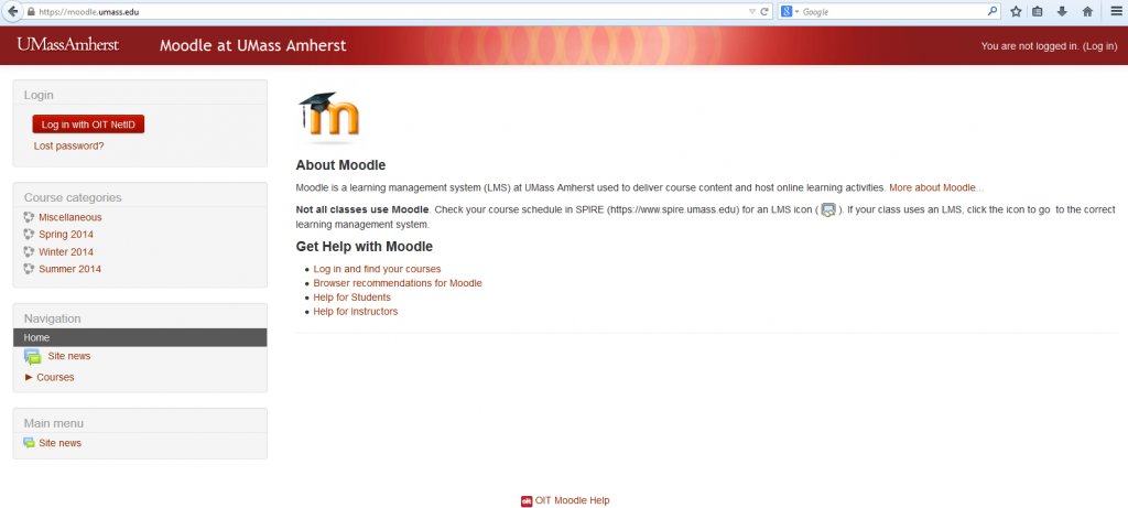 moodle page