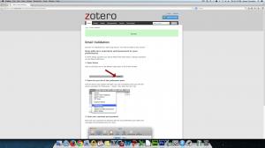 Zotero Email Validation