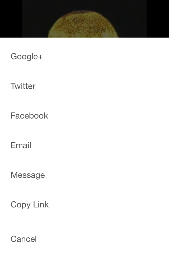 YouTube App Share