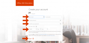 Microsoft Office 365 Education - Create Account