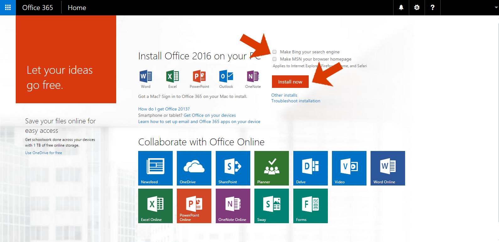 microsoft 2016 free download for students