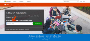Office 365 Education Landing Page