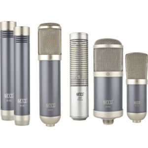 Studio condenser and ribbon microphones.
