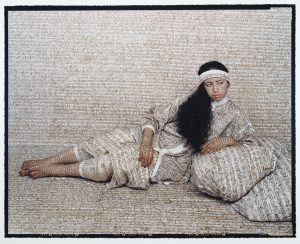 Fig.3. Lalla Essaydi (Moroccan, born 1956), Les Femmes du Maroc #14, 2005, Photograph: C41 print mounted on aluminum. 34 1/8 in x 40 1/8 in x 1 1/8 in. AC 2007.13