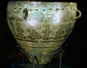 Fig. 2. Copper Alloy Drum, 12th century, Artuqid Dynasty, Turkey, copper alloy, ht. 25 in, Turkish and Islamic Arts Museum, Istanbul