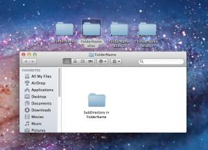 "When we click on ""FolderName alias,"" Finder opens up ""FolderName"""