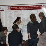Tina Chen and Amanda Rysling present their posters