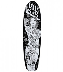 FTC x rebel8 shirts and skateboards