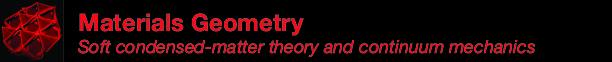 Materials Geometry @ UMass Amherst