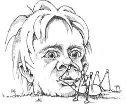 Mike Bukowick caricature copy
