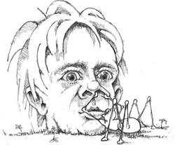 Mike Bukowick caricature copy