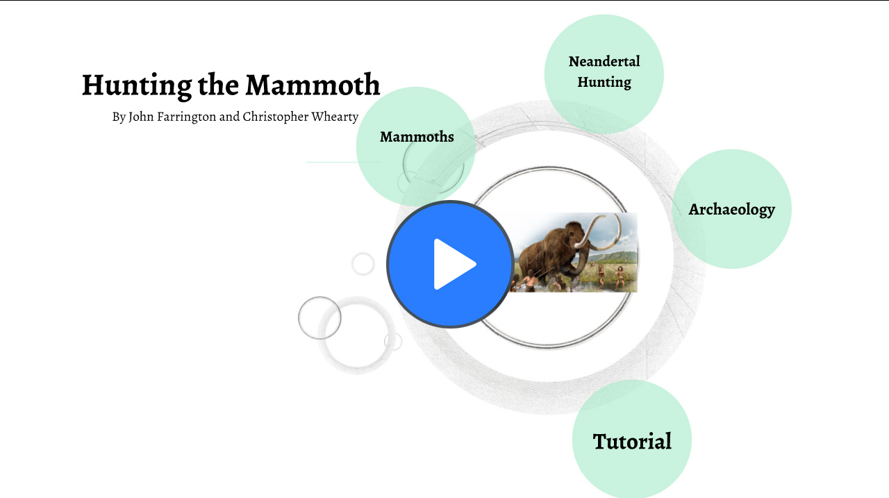 Mammoth Hunting Presentation