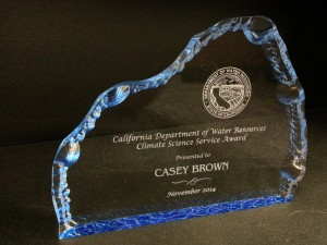CaliClimate Science award