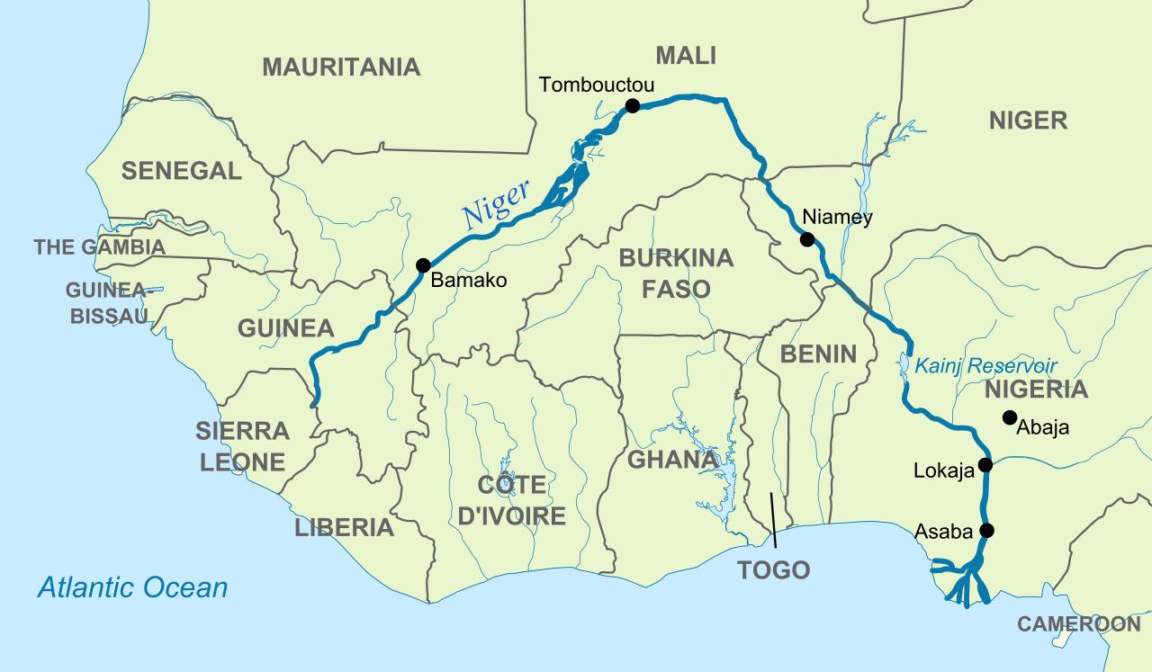 Benue River Africa Map | stadslucht