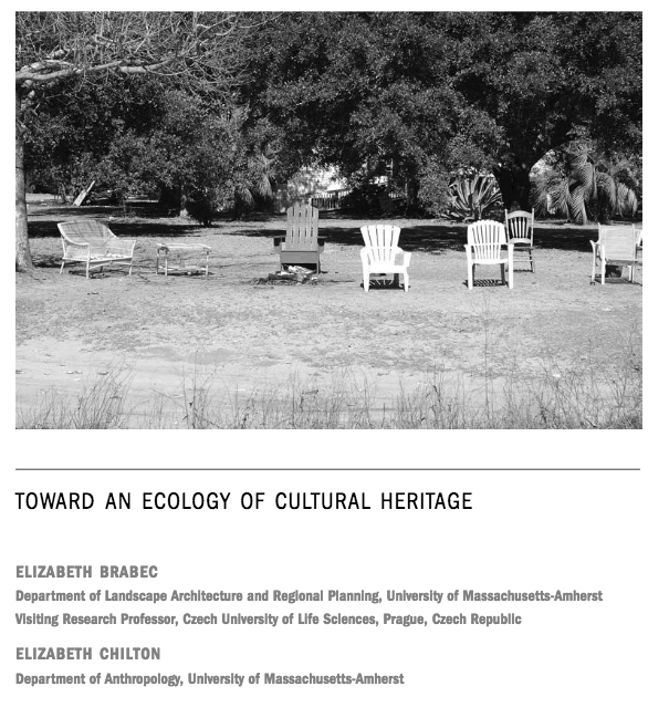 Toward an Ecology of Cultural Heritage