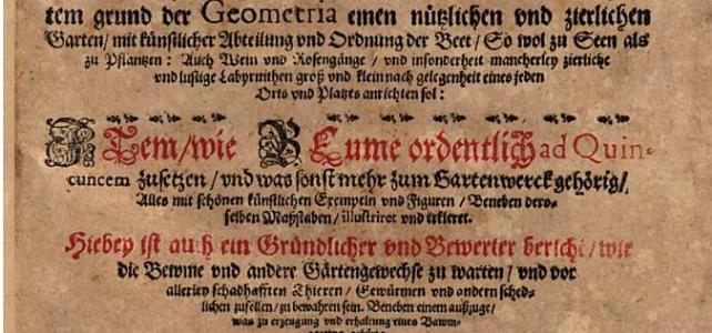 Garten Ordnung, 1597, Johannes Peschel