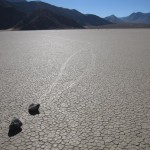Sliding rocks in Death Valley. Totally awesome.