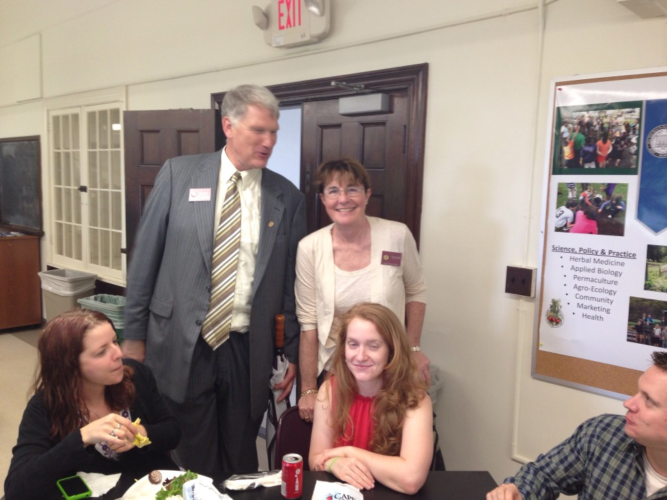 Deans Goodwin and Baker stopped by to wish our graduates well