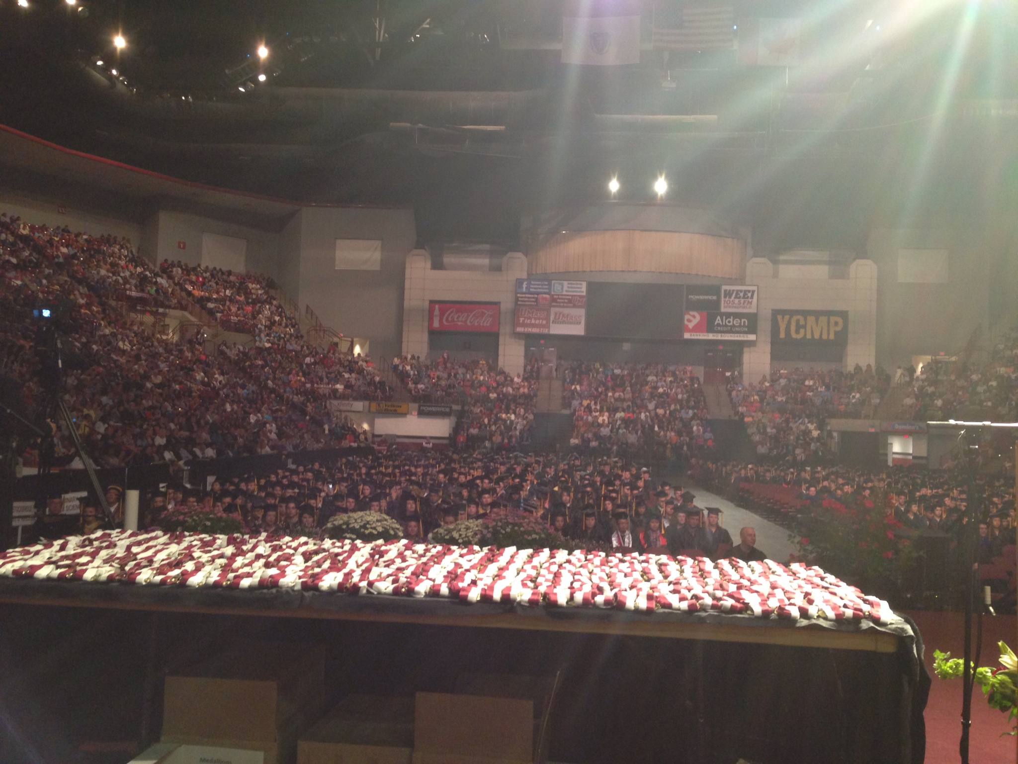 The Mullins Center was full!