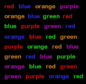 Source: http://brainstormpsychology.blogspot.com/2013/08/the-stroop-effect.html