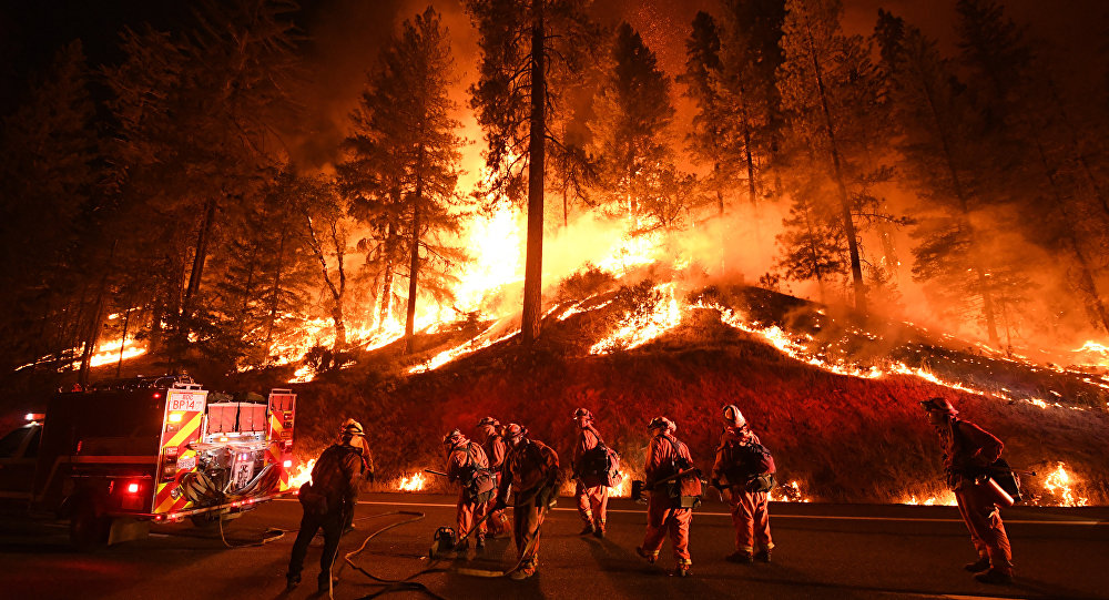 Picture of Camp Fire in California