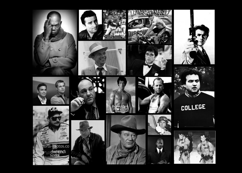 Simply Collage of iconic men over the past 50 or so years.