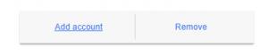 Google Add Account Button