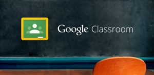 Front page of Google classroom
