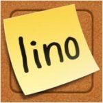 Lino Logo: sticky note on a canvas