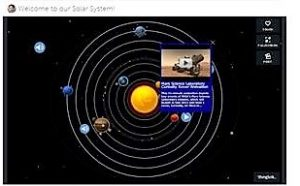 Thinglink Solar System activity