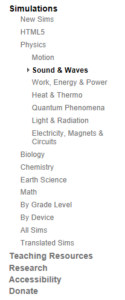 List of Simulation Categories