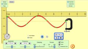 Screenshot of wave investigation simulation
