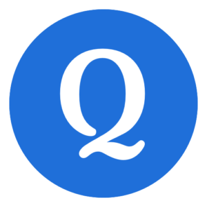 "Quizlet Logo: Blue Circle with White Letter ""Q"""