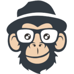 JoeZoo logo: a monkey face with a black hat and glassess