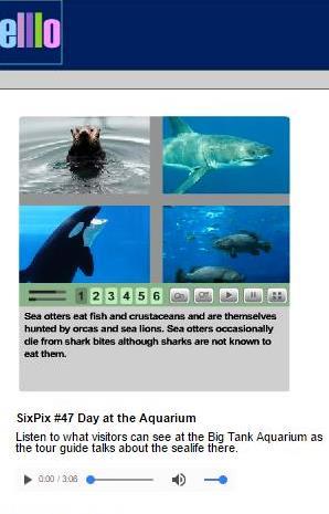 Listening game Aquarium
