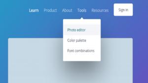 Screenshot of the photo editor tool in Canva