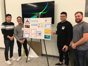 students presenting at tech tools showcase