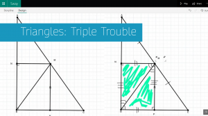 The first card in a Sway called Triangles: Triple Trouble