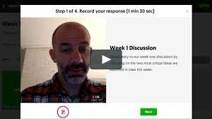 Flipgrid screenshot with an instructor's image
