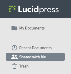 Image of Lucidpress sharing features through Google Drive.