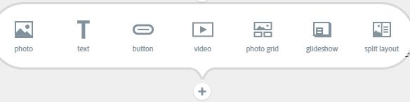 A screenshot of the Adobe Page customization options.