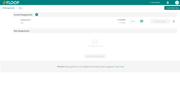 This is a screenshot of your dashboard showing your current assignments.