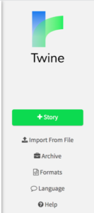 Twine toolbar