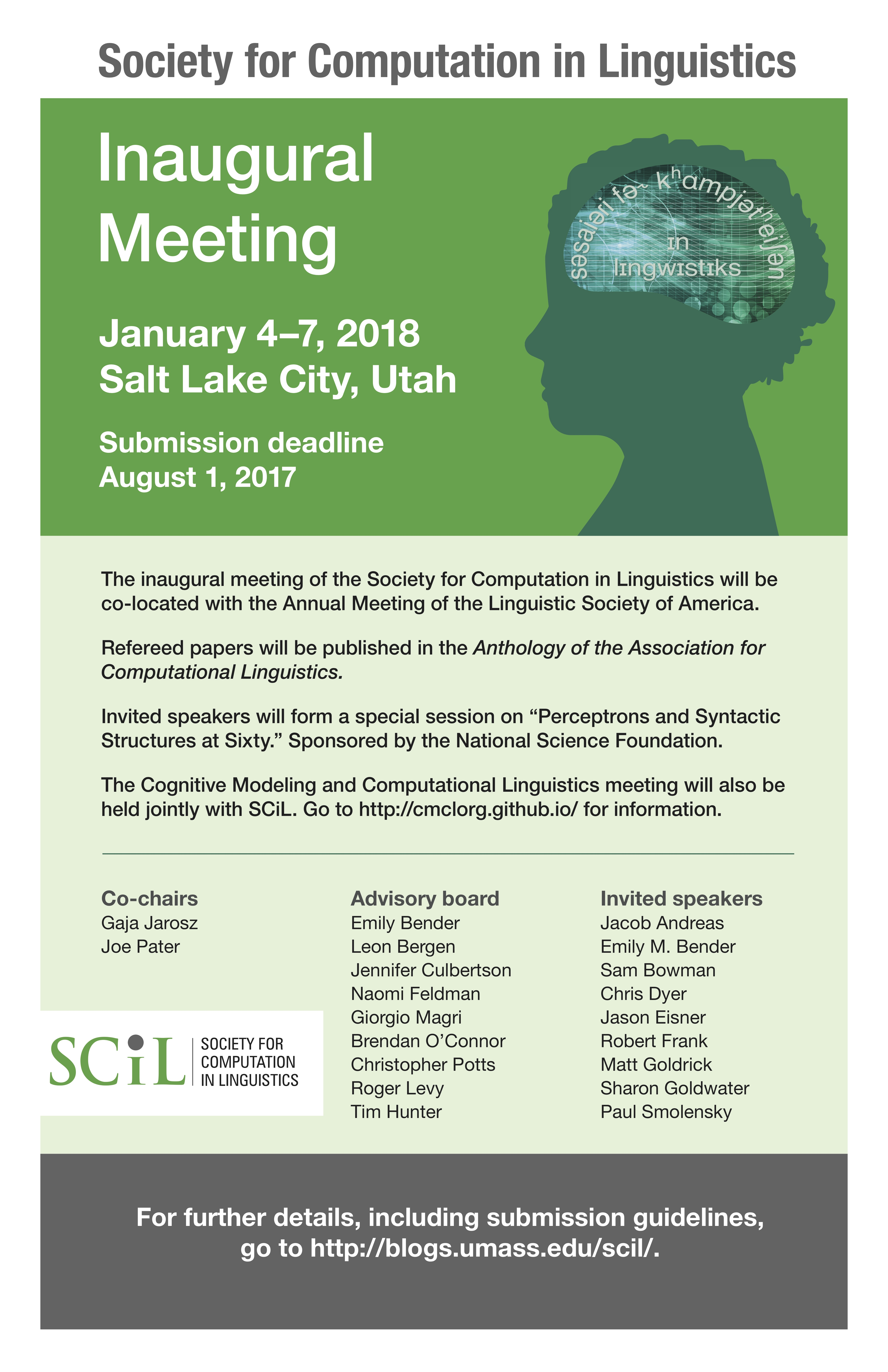 Call for Papers | Society for Computation in Linguistics