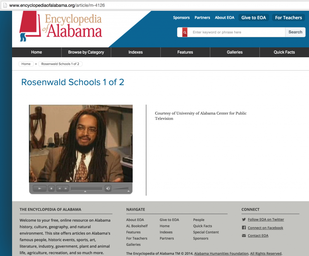 Sharing knowledge in the Encyclopedia of Alabama on the education of African Americans in the South