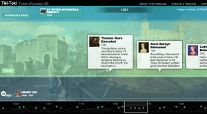 An interactive timeline built using Tiki-Toki.